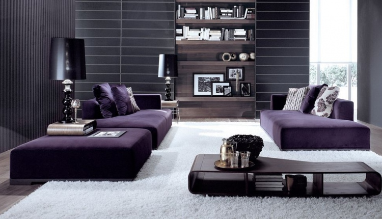 modern-living-room-with-purple-sofa-and-white-carpet-under-feet